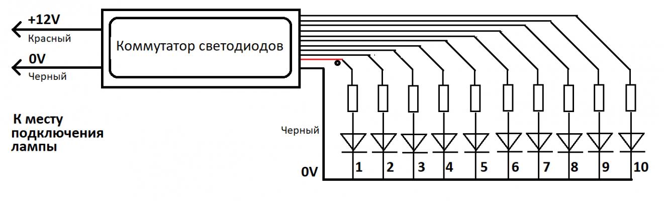 Динамический указатель поворотов (контроллер, коммутатор светодиодов)
